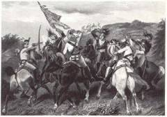 American and British cavalry at Cowperns, January 1781