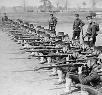 Japanese Guard units in training
