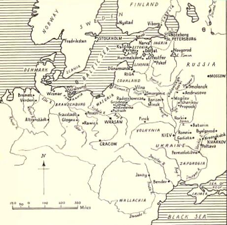 Campaign map of Great Northern War
