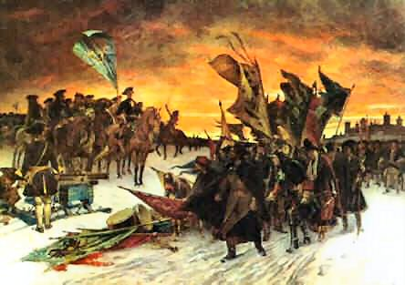 The surrender of the Russians at Narva