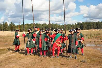 Russian infantry (note the pike still in existence)