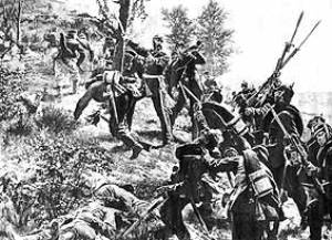 General François leading the attack (see Bibliography)