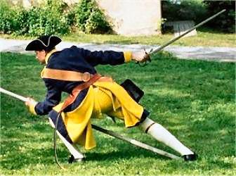 Swedish pikeman in defensive position