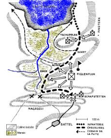 Map of Morgarten. Wikipedia
