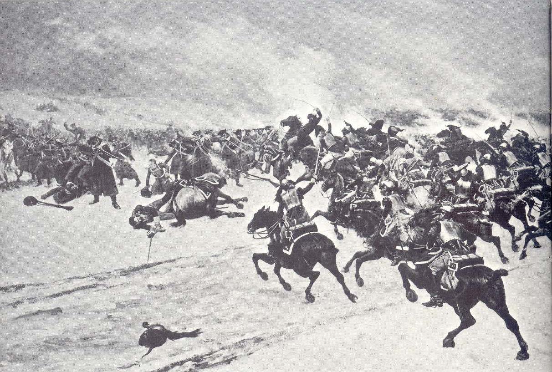 More artistic propaganda.The Combat at Hoff. By G. Neymark