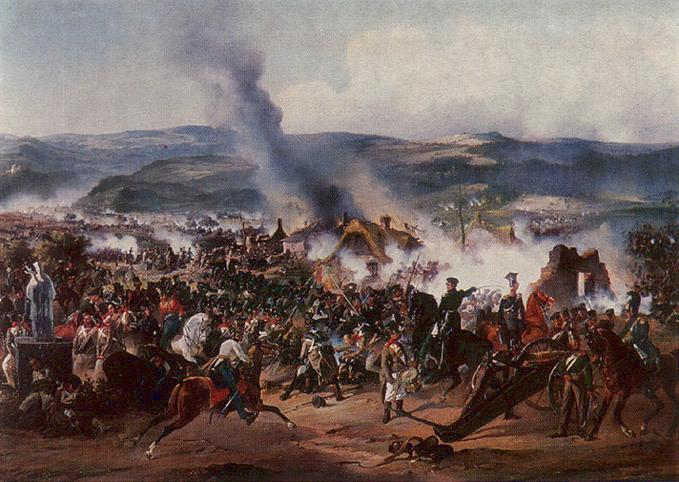 The Battle of Kulm by Alexander von Kotzebue
