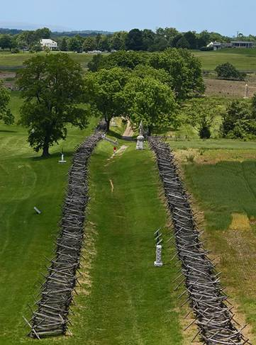 The Sunken Lane today (Antietam National Battlefield)