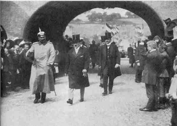 The end of German Imperialism. Kaiser Wilhelm II with Gustav Krupp just before the outbreak of the First World War.