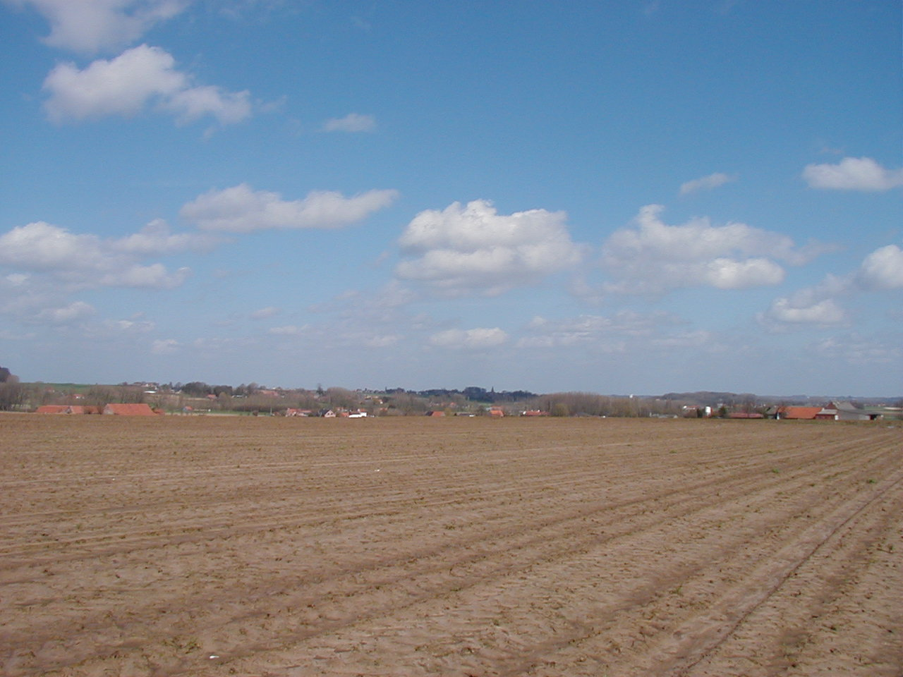 Looking from the Boser Couter towards the Heights of Huysse in the middle distance.