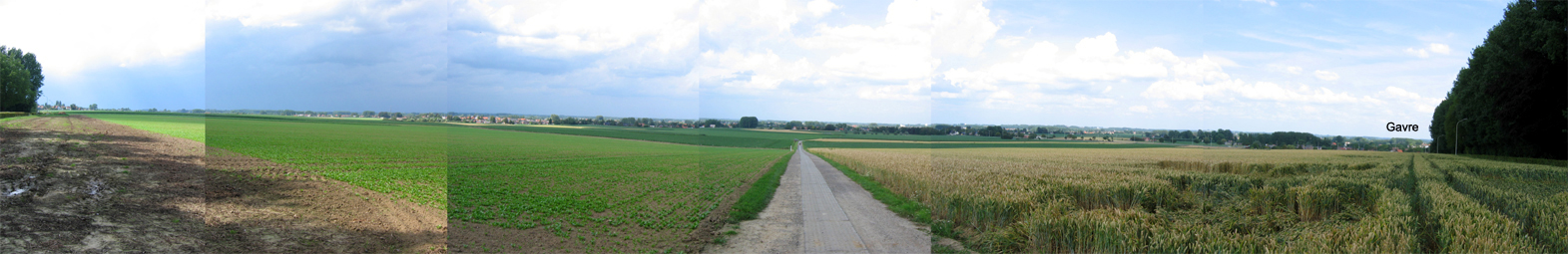 (1) Looking north/west from north of Mullem.