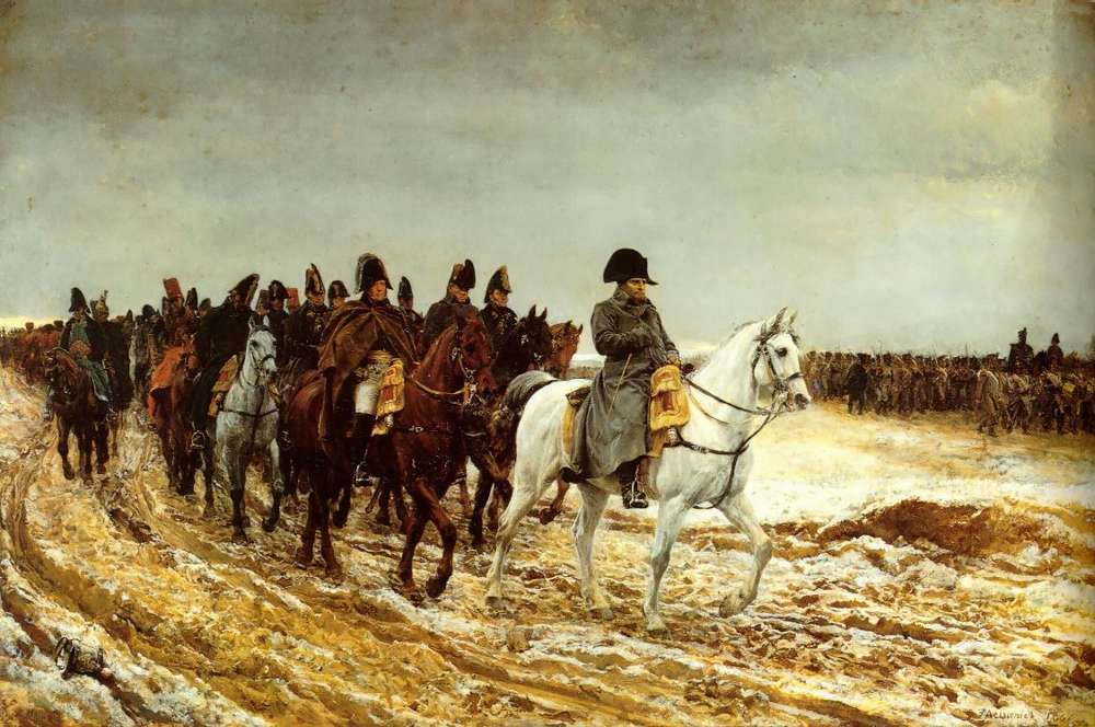 Napoleon on campaign in 1814 by Meissonier