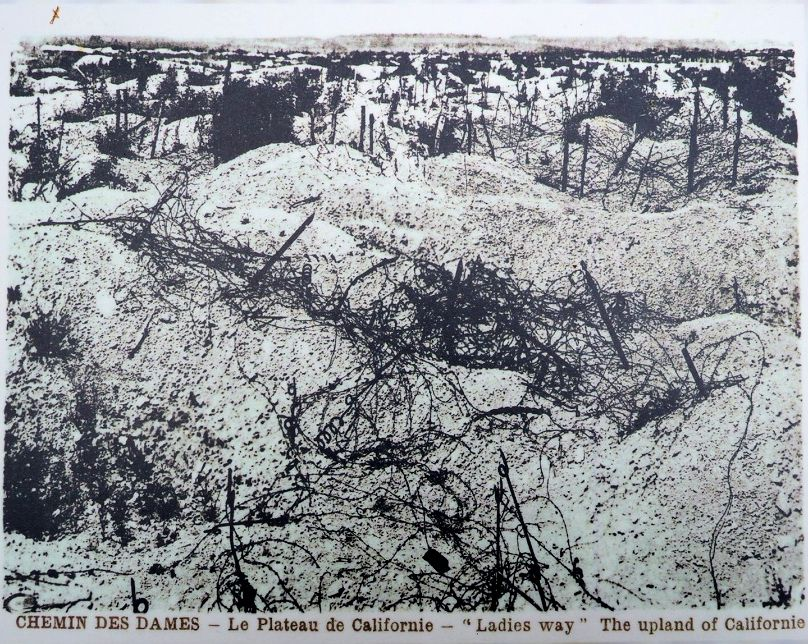 The lunar fields of France. The Chemin Des Dames after the Nivelle Offensive of 1917