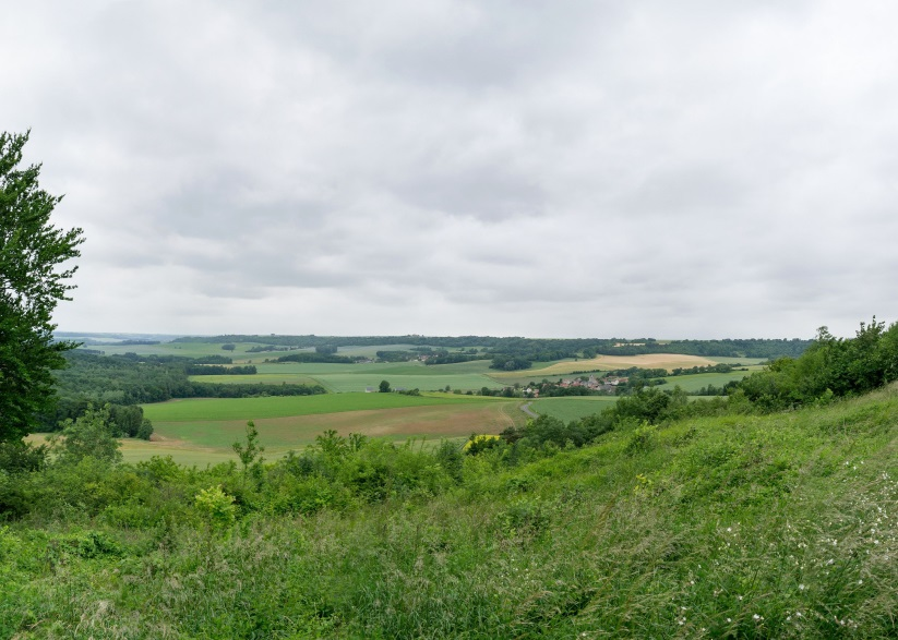 View south west towards Vassogne from Basque memorial.