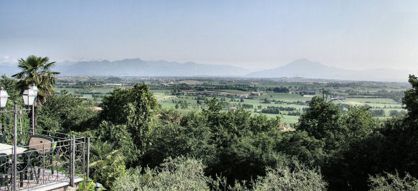 Looking East from Solferino Castle. The San Martino tower is just visible towards the right of the picture.