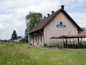 The railway station at Sadowa.