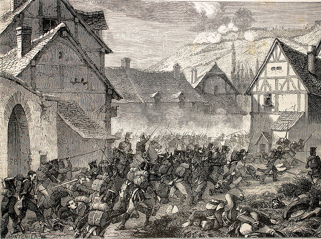 Street fighting in the suburbs of Laon.