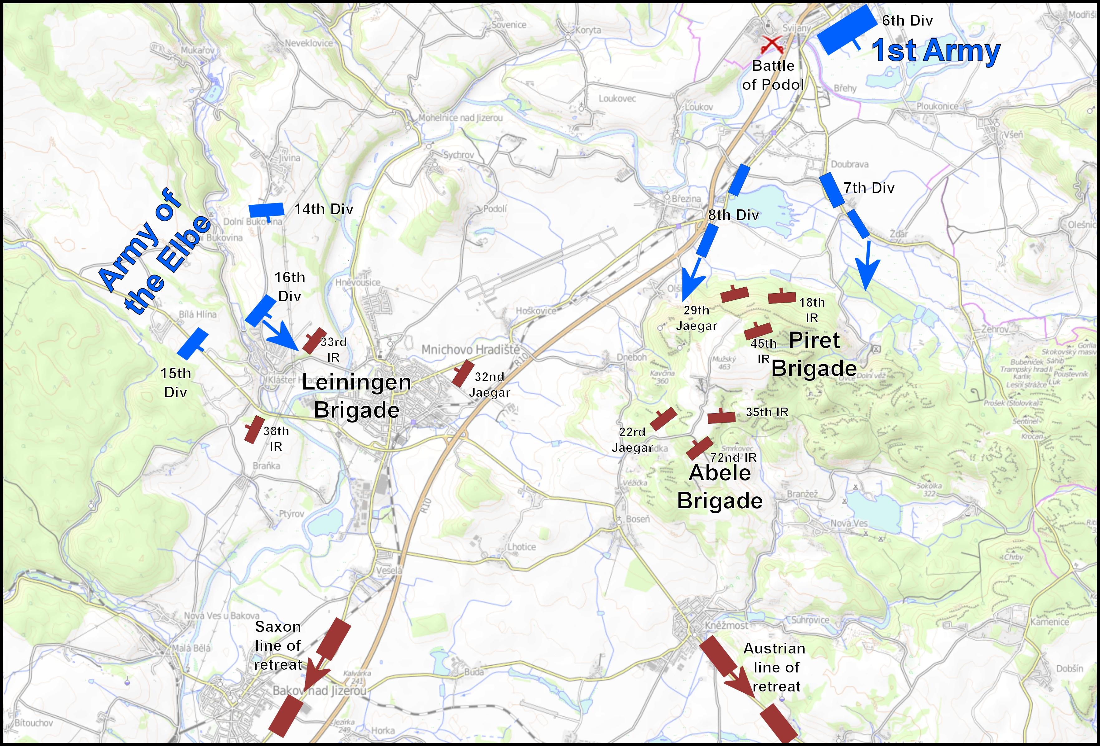 The Battle of Münchengrätz, 28th June 1866.