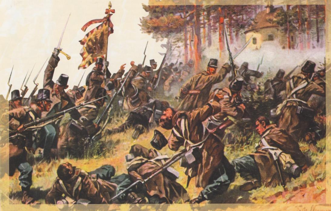 Austrian infantry attacking the Kapellenberg.