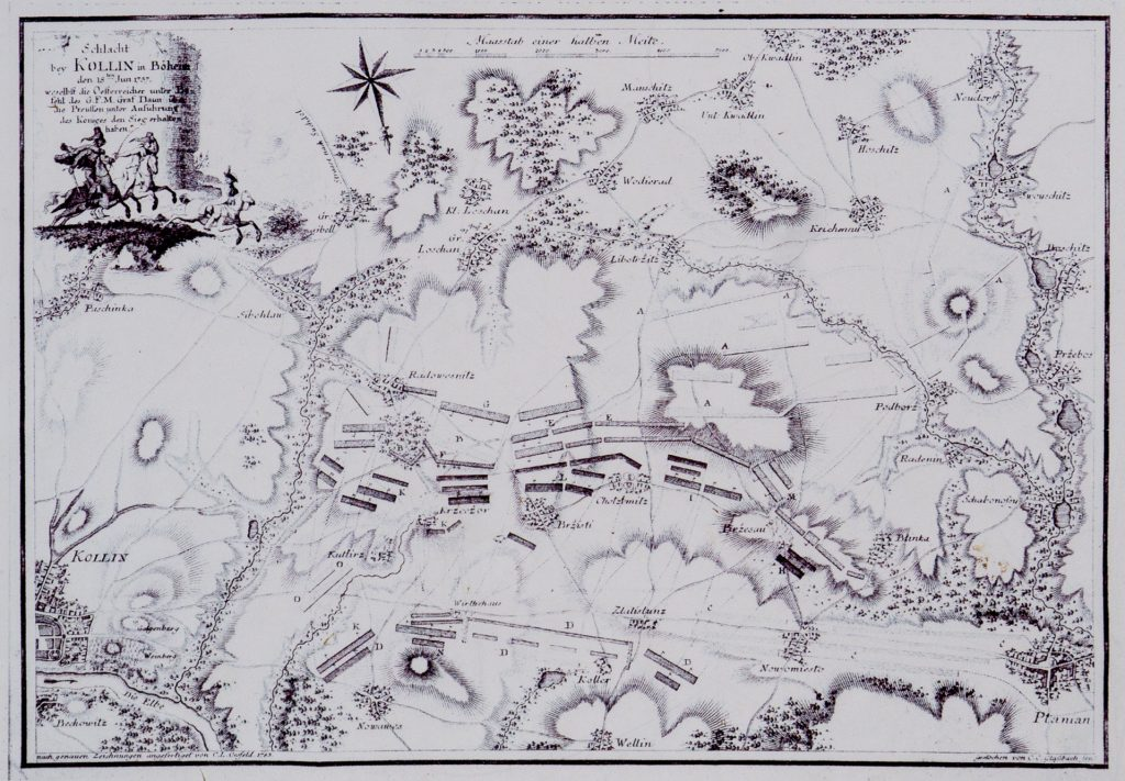 Contemporary map of the battle.