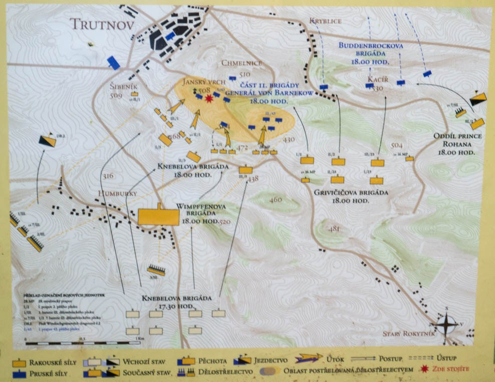 Plan showing the action at 6:00 p.m.